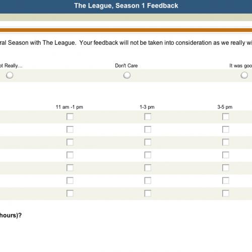 League Survey
